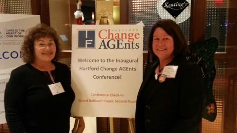 Denise Wishner and Nancy Dudley at the Change AGEnts Conference