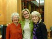 Drs. Lois Evans, Caroline Stephens, and  Jeanie S. Kayser-Jones