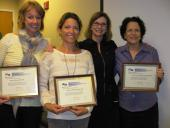 Hartford Academy Graduates (from left)  Annelie Nilsson, RN, MSN, Clinical Nurse Specialist, SF General Hospital, Hattie Grundland, RN, MS, NP,  Assistant Clinical Professor, UCSF Dept. of Physiological Nursing, Lynda Mackin, RN, PhD, ANP, Course Co-Director  and Roberta Block, MS, BS, RN, GCNS‐BC, Assistant Professor, Samuel Merritt University, School of Nursing